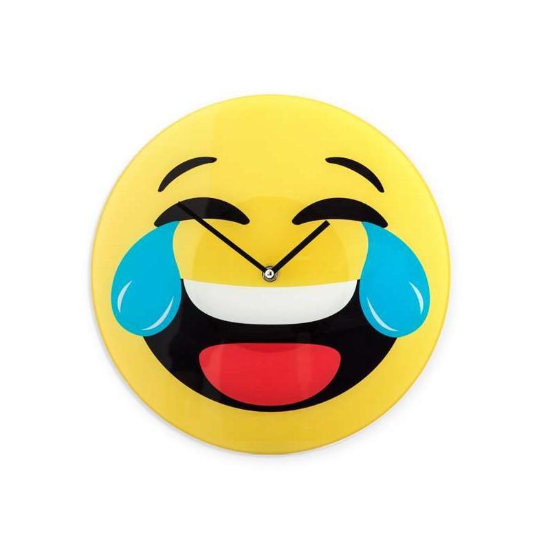 Ρολόι Τοίχου Emoticon Χαμόγελο