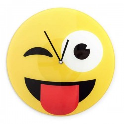 Ρολόι Τοίχου Emoticon Ανοιγόκλειμα Ματιών
