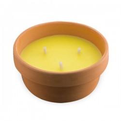Αντικουνουπικό Κερί Σιτρονέλας 15 cm σε Πήλινο Δοχείο