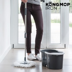 Kong Mop Iron Περιστρεφόμενη Σφουγγαρίστρα & Κουβάς