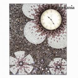 ρολόι πίνακας μωσαϊκό λουλούδια - Alhambra Συλλογή by Homania