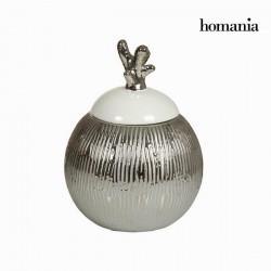 Ασημένιο λευκό κουτί με καπάκι by Homania