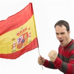 Σημαία Ισπανίας με μπαστούνι 60 x 90 cm