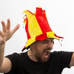 Καπέλο Τζόκερ με 14 Κουδουνάκια Σημαία Ισπανίας