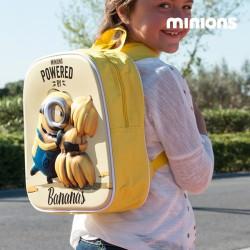 Σχολική Τσάντα 3D Minion Bananas