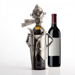 Μεταλλική Θήκη Κρασιού Σκιέρ