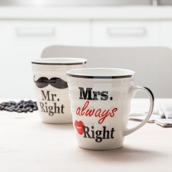 Κούπες Mr. Right & Mrs. Always Right