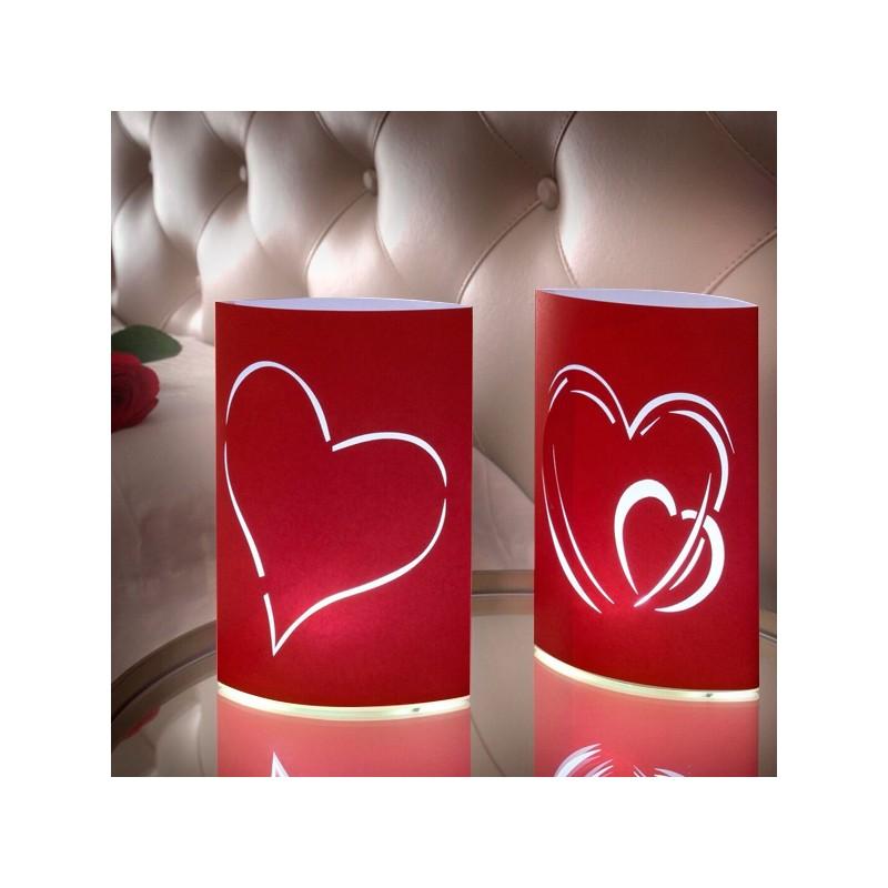 fc67be100a03 Χάρτινα Φανάρια LED Καρδιά (πακέτο με 2)