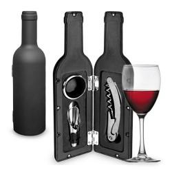 Θήκη σε Σχήμα Μπουκαλιού με Αξεσουάρ Κρασιού (3 τεμάχια)