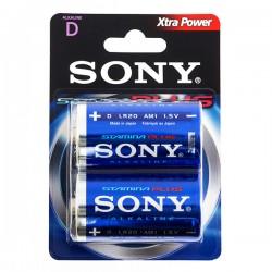Αλκαλικές Μπαταρίες Plus Sony D LR20 1,5V AM1 (πακέτο με 2)