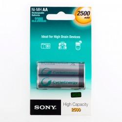 Επαναφορτιζόμενες Μπαταρίες Sony Ni-MH AA 2500 mA 1,2V (πακέτο με 2)