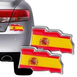 Αυτοκόλλητο Αυτοκινήτου Σημαία Ισπανίας (πακέτο με 2)