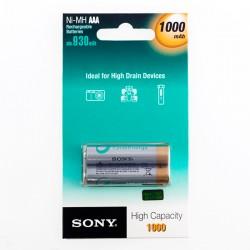 Επαναφορτιζόμενες Μπαταρίες Sony Ni-MH AAA 1000 mA 1,2V (πακέτο με 2)