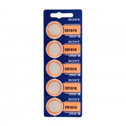 Μπαταρίες Κουμπιά Λιθίου Sony CR1616 3V (πακέτο με 5)