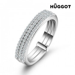 Δαχτυλίδι από Ασήμι Sterling 925 με Ζιργκόν Three Hûggot