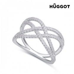 Δαχτυλίδι από Ασήμι Sterling 925 με Ζιργκόν Diadem Hûggot