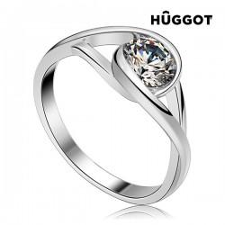 Δαχτυλίδι από Ασήμι Sterling 925 με Ζιργκόν Eye Hûggot