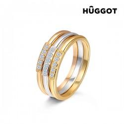 Επίχρυσο Τριπλό Δαχτυλίδι 18 Κ Hûggot