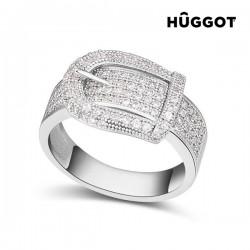 Δαχτυλίδι με επίστρωση Ροδίου και Ζιργκόν Belt Hûggot