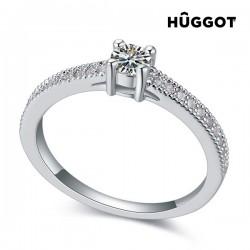 Δαχτυλίδι με επίστρωση Ροδίου και Ζιργκόν Love Hûggot