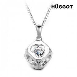 Κολιέ από Ασήμι Sterling 925 με Ζιργκόν και Κρύσταλλα Swarovski® Cube Hûggot (40 εκ.)