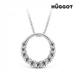 Κολιέ από Ασήμι Sterling 925 με Ζιργκόν και Κρύσταλλα Swarovski® Gala Hûggot (45 εκ.)