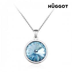 Κολιέ με επίστρωση Ροδίου και Κρύσταλλα Swarovski® Blue Diamond Hûggot (45 εκ.