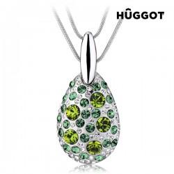 Κολιέ με επίστρωση Ροδίου, τριπλή αλυσίδα και Κρύσταλλα Swarovski® Turtle Hûggot (40 εκ.)
