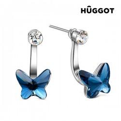 Σκουλαρίκια με επίστρωση Ροδίου, Ζιργκόν και Κρύσταλλα Swarovski® Swing Hûggot