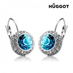 Σκουλαρίκια με επίστρωση Ροδίου, Ζιργκόν και Κρύσταλλα Swarovski® Owl Hûggot