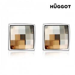 Σκουλαρίκια με επίστρωση Ροδίου και Κρύσταλλα Swarovski® Autumn Hûggot