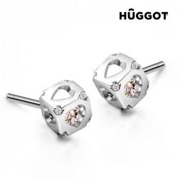 Σκουλαρίκια από Ασήμι Sterling 925 με Ζιργκόν Dice Hûggot