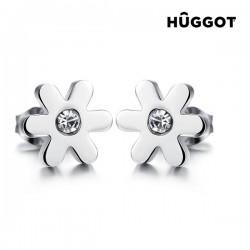 Σκουλαρίκια από Χειρουργικό ατσάλι 316 L με Ζιργκόν Spring Hûggot