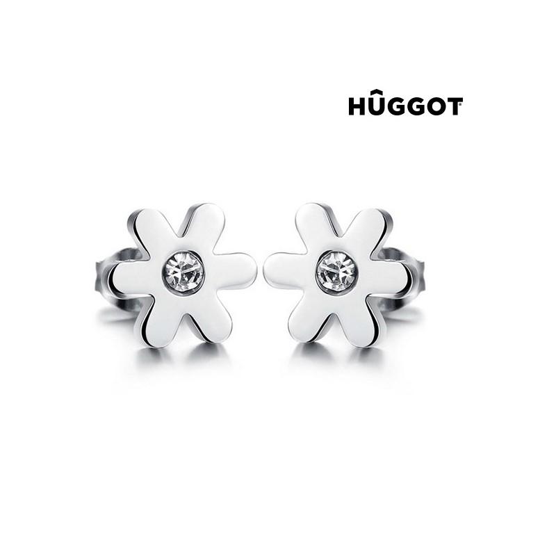 Σκουλαρίκια από Χειρουργικό ατσάλι 316 L με Ζιργκόν Spring Hûggot 49c869c2538