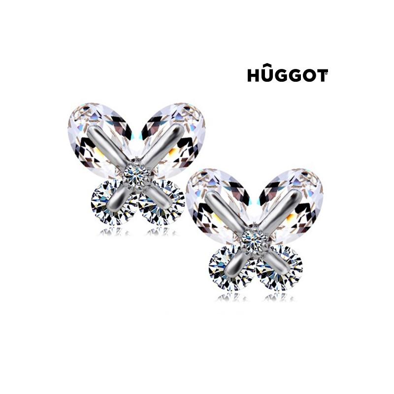 Σκουλαρίκια με επίστρωση Ροδίου και Ζιργκόν Dreams Hûggot 29ac6159eae