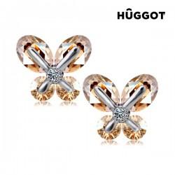 Σκουλαρίκια με επίστρωση Ροδίου και Ζιργκόν TinkerBell Hûggot