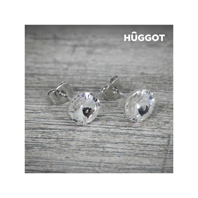 Σκουλαρίκια με επίστρωση Ροδίου και Κρύσταλλα Swarovski® Winter Hûggot bb8760727a3