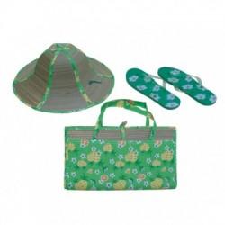 Σετ Ψάθα - Σαγιονάρες - Καπέλο Ψάθινο