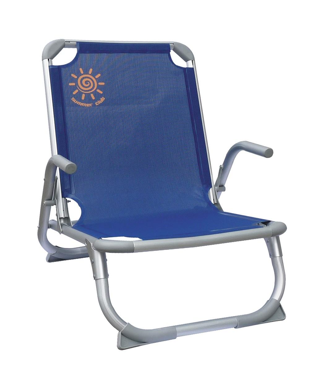 Καρέκλα Παραλίας Αλουμινίου, χαμηλή με ενίσχυση
