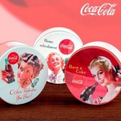 Κυκλικό Vintage Μεταλλικό Κουτί Coca-Cola