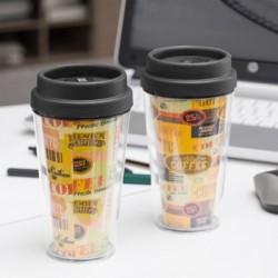 Ποτήρι με Καπάκι και Διπλό Τοίχωμα Coffee