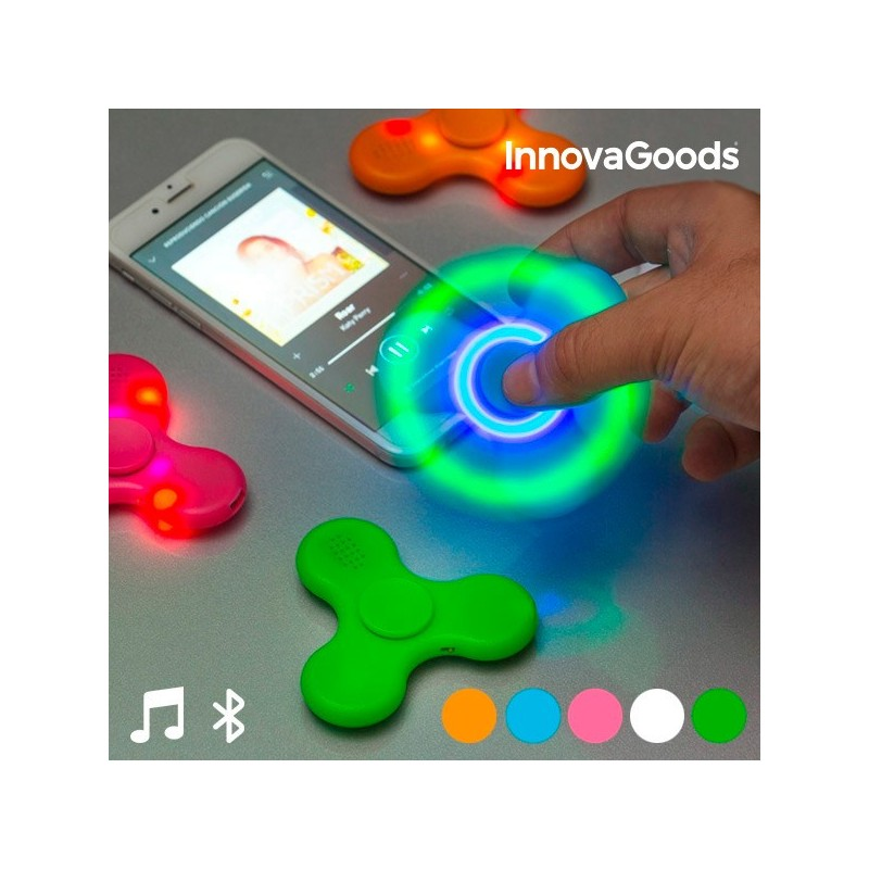 Spinner LED με Ηχείο και Bluetooth InnovaGoods