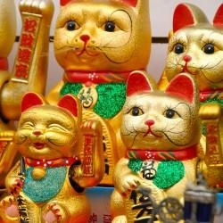 Τυχερή Γάτα Maneki Neko Κεραμική 17εκ