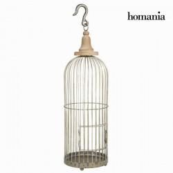 Μεταλλικό γκρι διακοσμητικό κλουβί - Art & Metal Συλλογή by Homania