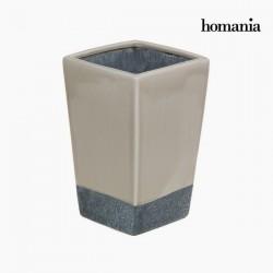 Γκρι και μπεζ κεραμικό βάζο by Homania