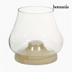 Κηροπήγιο Γυαλί Ξύλο - Pure Crystal Deco Συλλογή by Homania
