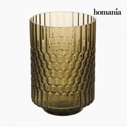 Βάζο Γυαλί Καφέ - Crystal Colours Deco Συλλογή by Homania