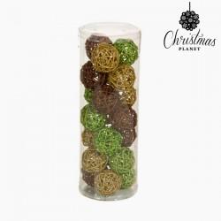 Χριστουγεννιάτικες μπάλες Καφές Χρυσό Πράσινο (21 pcs) by Christmas Planet