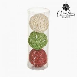 Χριστουγεννιάτικες μπάλες Κόκκινο Πράσινο Λευκό (3 pcs) by Christmas Planet