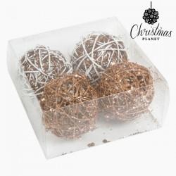 Χριστουγεννιάτικες μπάλες Λευκό Χρυσό (4 pcs) by Christmas Planet